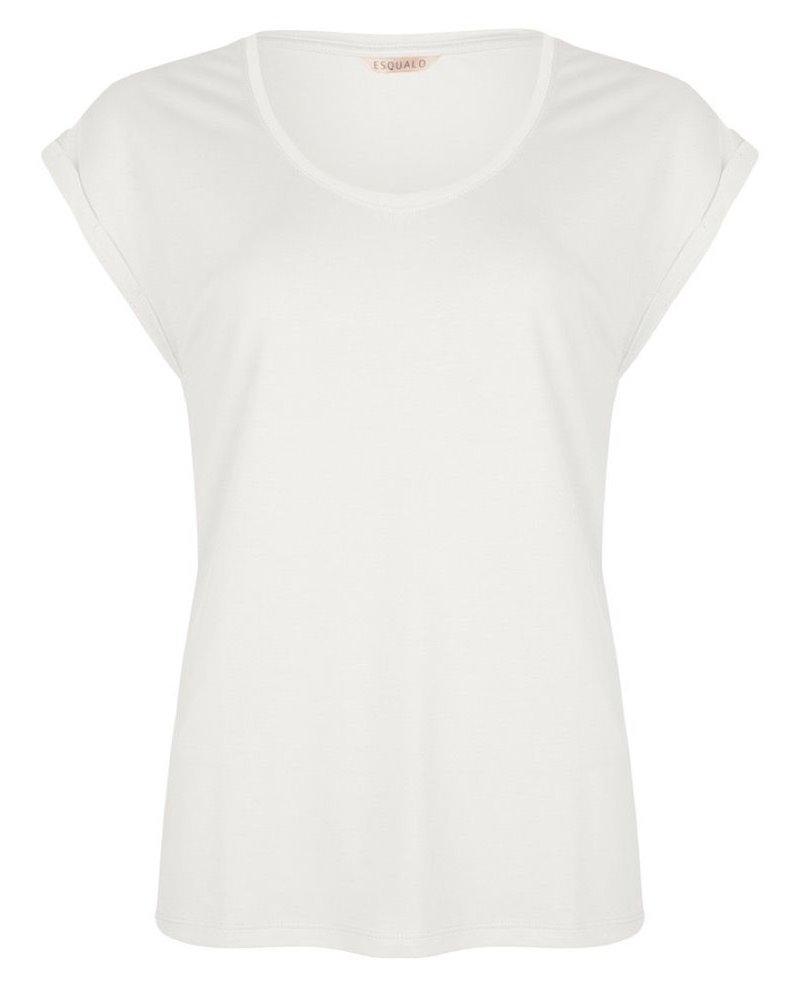 ESQUALO HS21.30213 T-shirt turn up sleeve off white