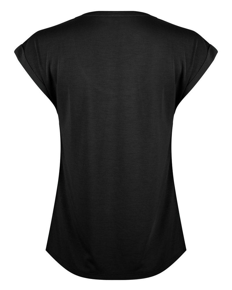 ESQUALO HS21.30213 T-shirt turn up sleeve black