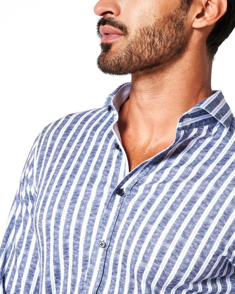 DESOTO 41107 Desoto new hai 1/1 blue linen stripe