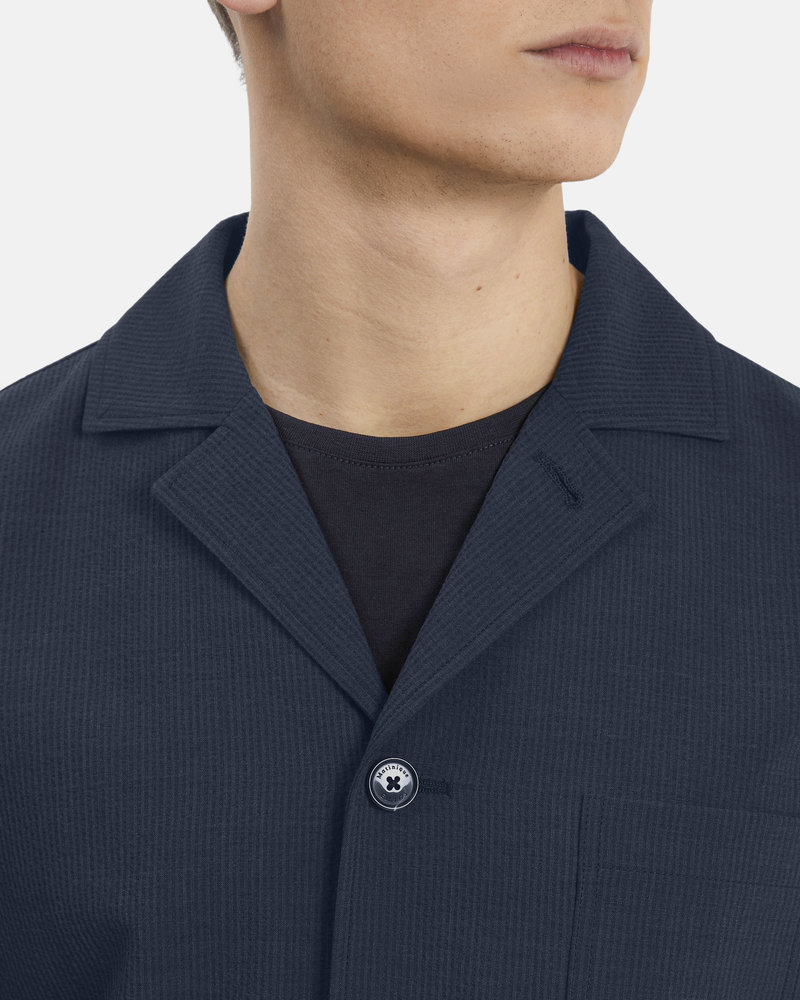 MATINIQUE Manohr utility jacket seersucker suit 30205184 dark navy