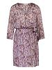 FREEBIRD Odette purple short sleeve mini dress ethnic-feather-pes-01