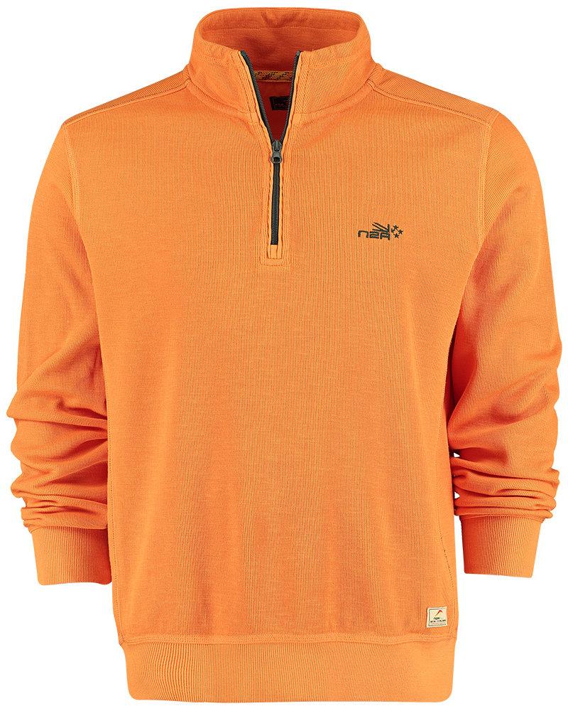 NZA NEW ZEALAND Sweat half zip red peak 21BN304 vivid orange