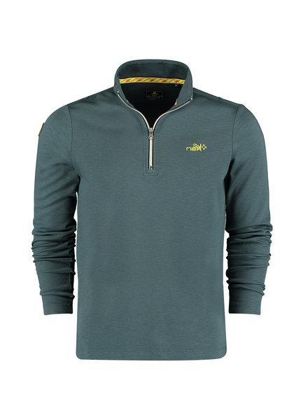 NZA NEW ZEALAND Sweat half zip te paeroa 21BN308 moss green