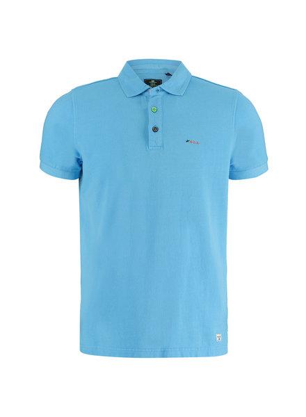 NZA NEW ZEALAND Polo short sleeve kerikeri 21CN150 celtic blue