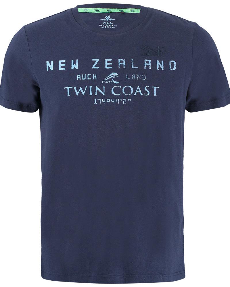 NZA NEW ZEALAND Tee short sleeve leeston 21CN709 native navy