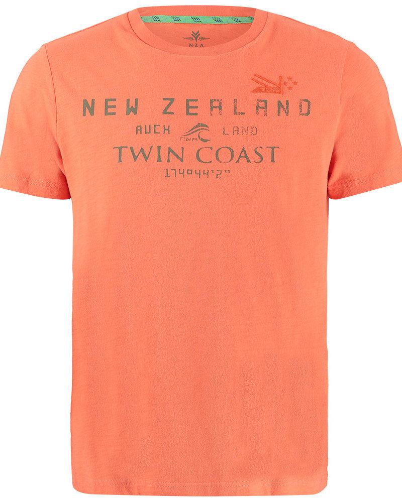 NZA NEW ZEALAND Tee short sleeve leeston 21CN709 orange pepper