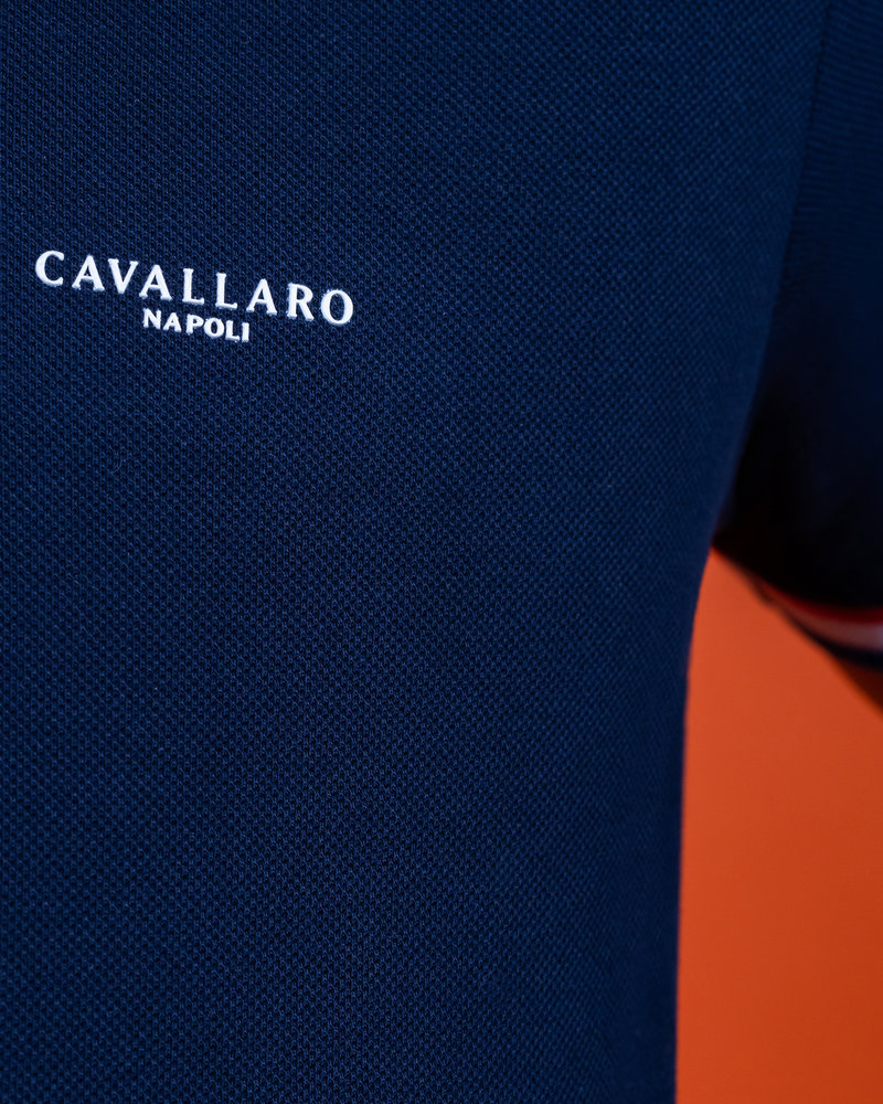 CAVALLARO 116212009 Ec 21 polo dark blue