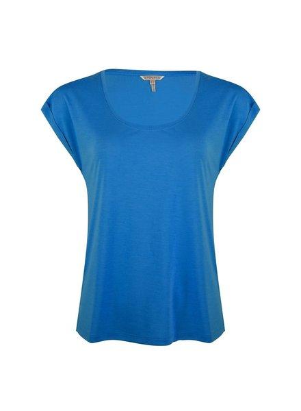 ESQUALO HS21.30213 T-shirt turn up sleeve  blue
