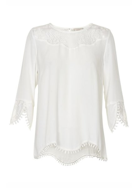 CREAM 10601772 Kalanie blouse 60034 chalk