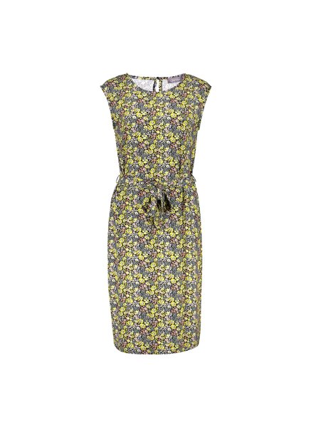 GEISHA 17393-60 sky dress with strap sleeveless yellow combi flowers