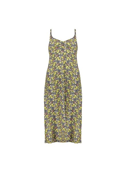 GEISHA 17392-60 noëlle dress long spaghetti yellow combi flowers