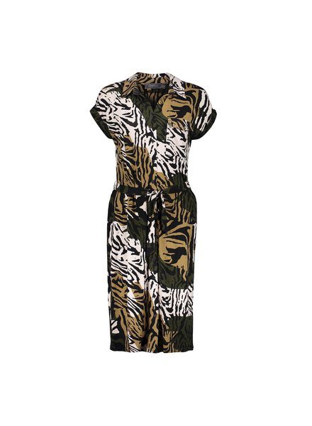GEISHA 17441-20 dress sand/black combi