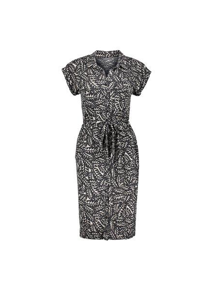 GEISHA 17451-20 dress off-white/black combi