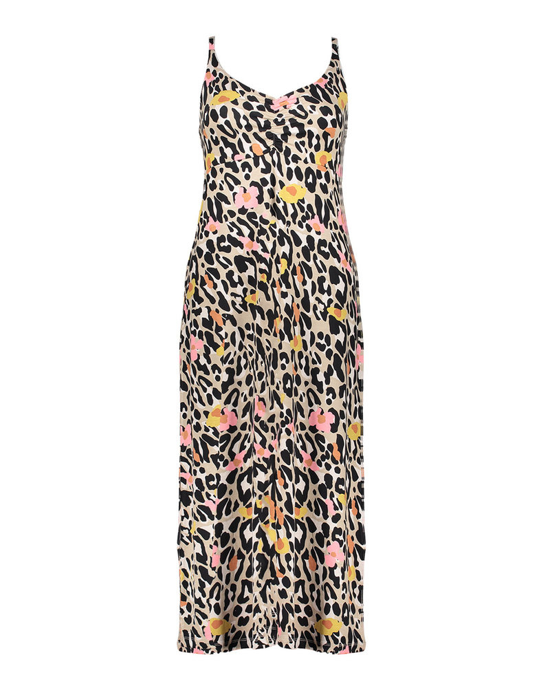 GEISHA 17392-60 noëlle dress long spaghetti sand/pink leopard