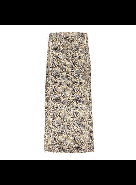 GEISHA 16381-60 isa skirt long aop off-white/brown animal