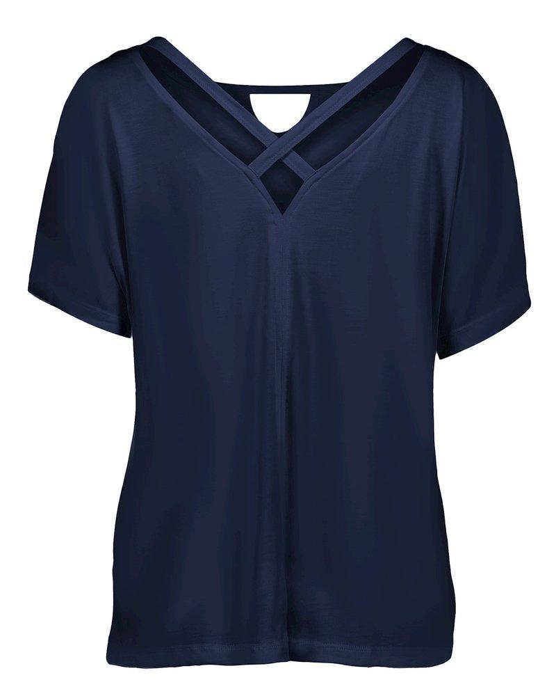 GEISHA 12047-23 T-shirt x-neck navy