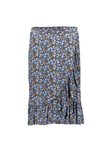 GEISHA 16051-60 Skirt wrap blue/green flowers