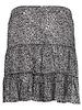 GEISHA 16040-85 Skirt ruffle minimal print black/ecru
