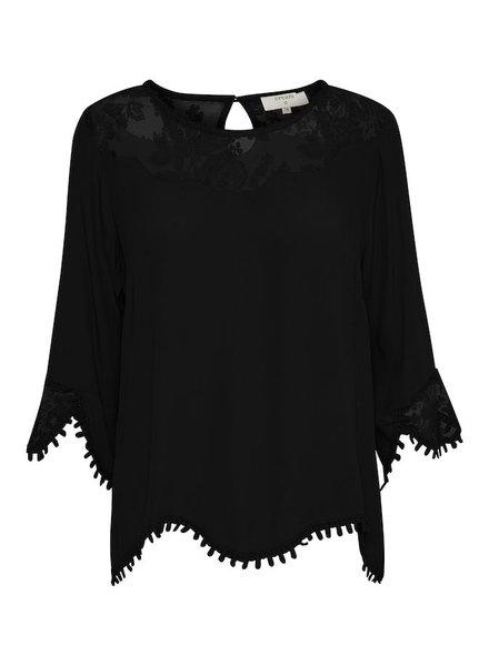 CREAM 10601772 Kalanie blouse 61907 PITCH BLACK