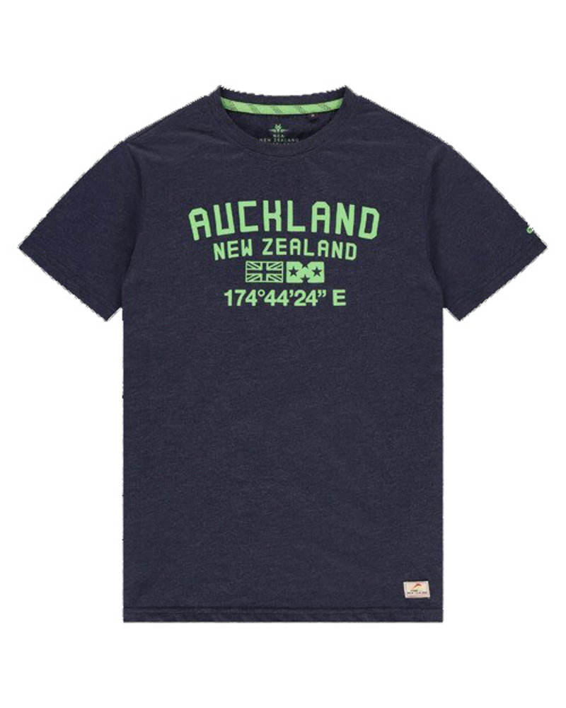 NZA NEW ZEALAND Tee short sleeve te au 21CN712 native navy