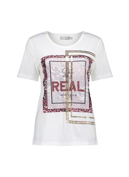 GEISHA 12643-40 T-shirt 'real' off-white/burgundy