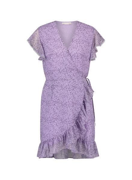 FREEBIRD Rosy lilac short sleeve mini dress foggy-pes-01
