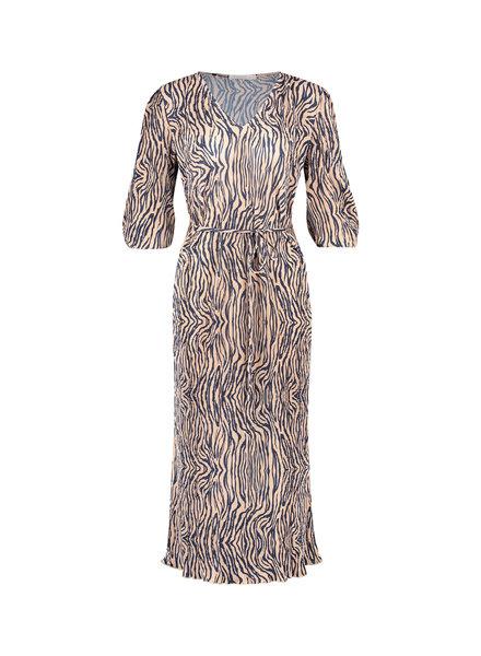 FREEBIRD Malia nude dress zebra-pes-21-3