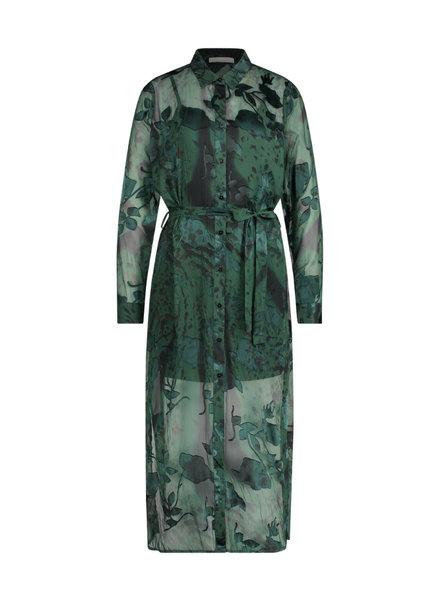 FREEBIRD Harper ls dark green dress hermitage-pes-21-3