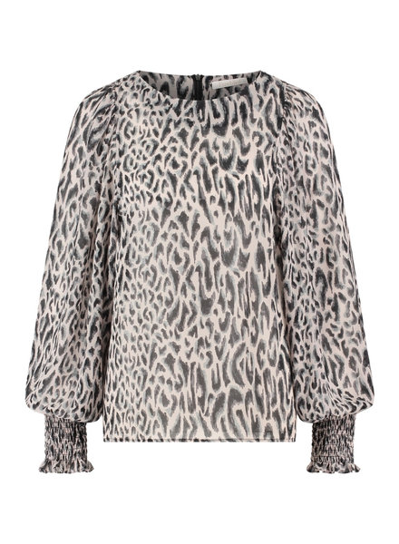 FREEBIRD Tisha nude blouse leopard-pes-21-3