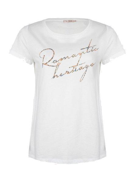 ESQUALO F21.30513 T-shirt romantic heritage off white
