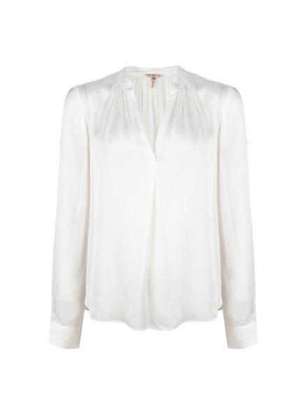 ESQUALO F21.08513 Blouse satin oversized off white