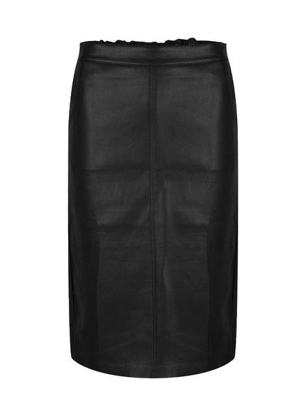 ESQUALO F21.11511 Skirt pencil long pu black