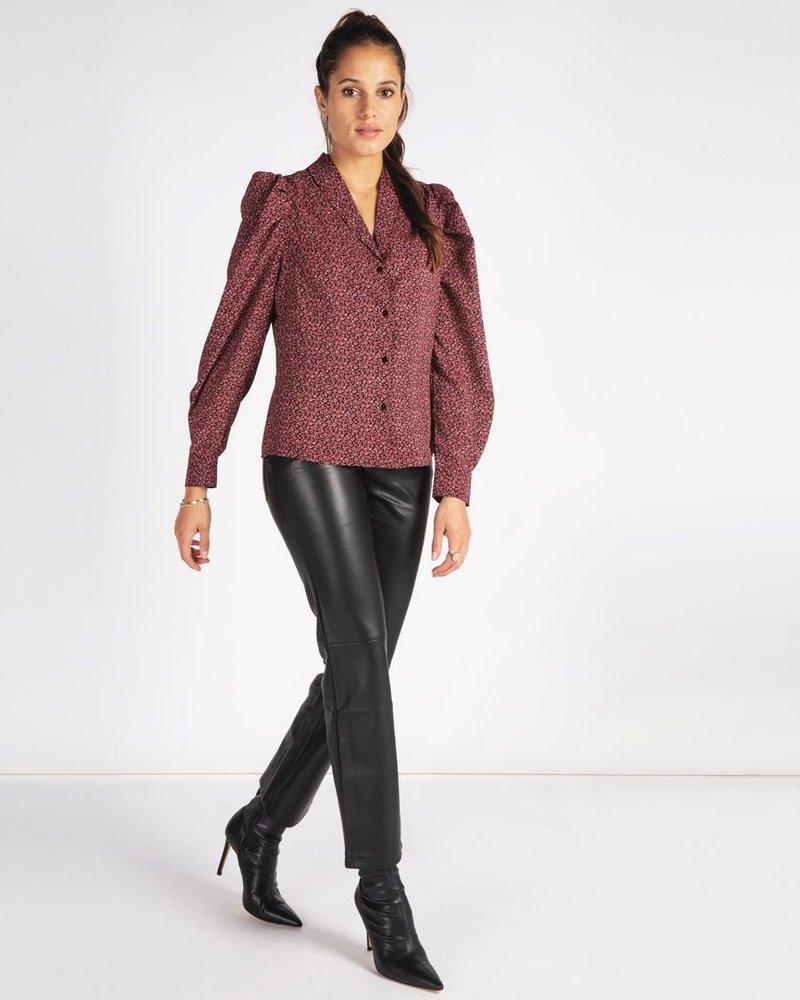 ESQUALO F21.11504 Trousers 5pocket wide pu black