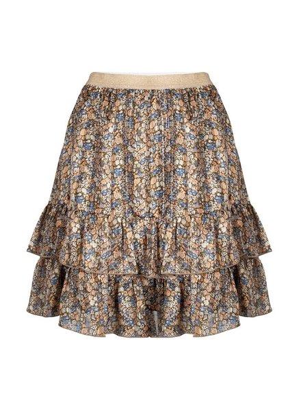 ESQUALO F21.08504 Skirt layers blurred flower print