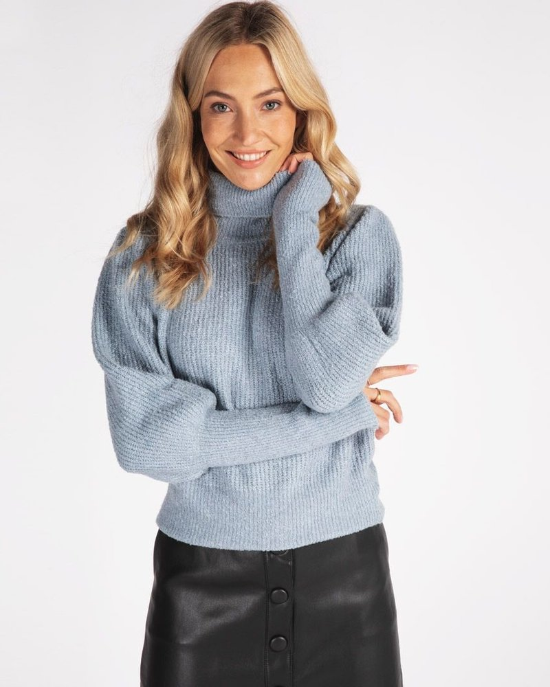 ESQUALO F21.11506 Skirt buttoned front pu black