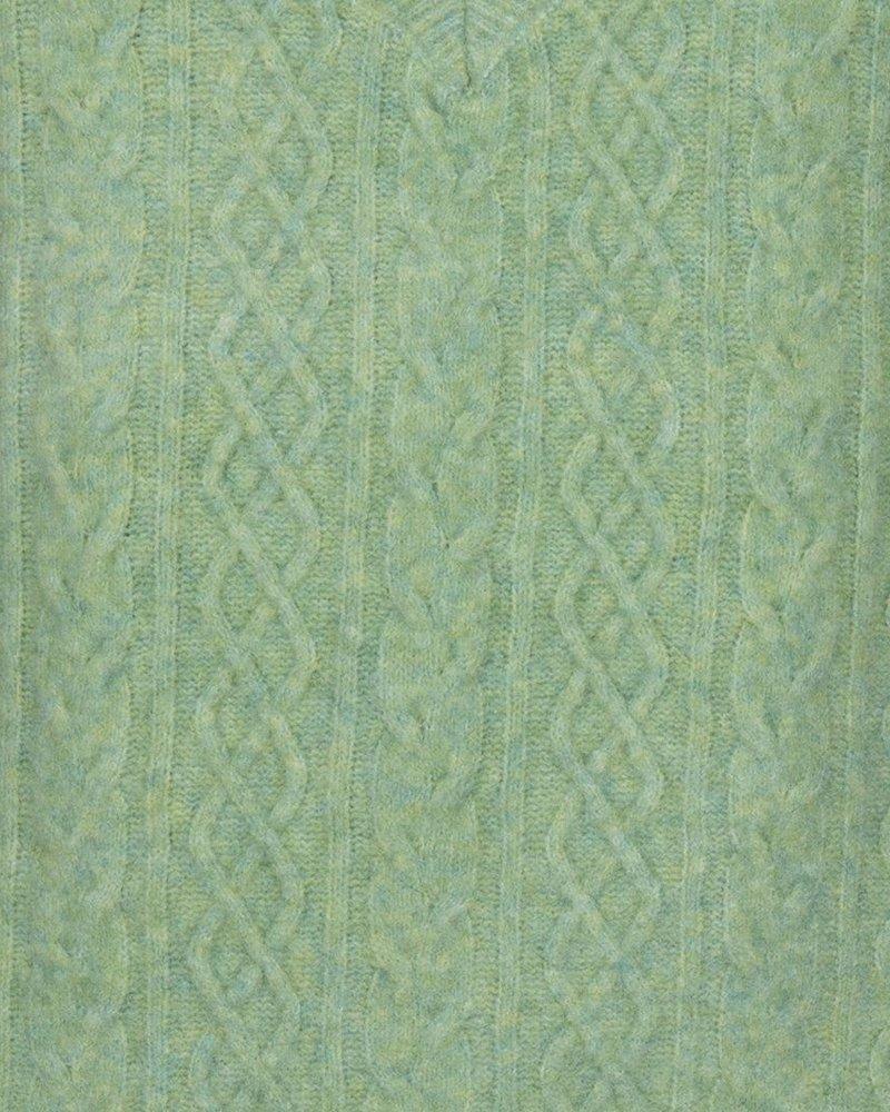 ESQUALO F21.31508 Spencer v-neck cable soft green