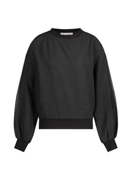 FREEBIRD Ruth black sweater bubble-pes-21-3