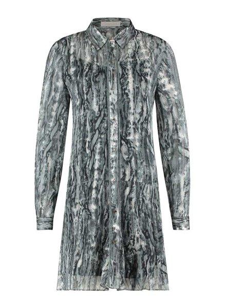 FREEBIRD Celeste ls grey multi dress nature-pes-21-3