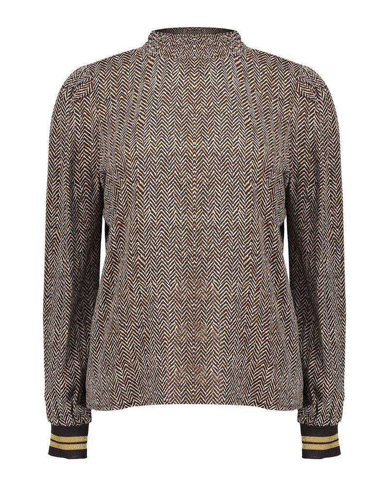 GEISHA 13670-20 Top off-white/brown combi
