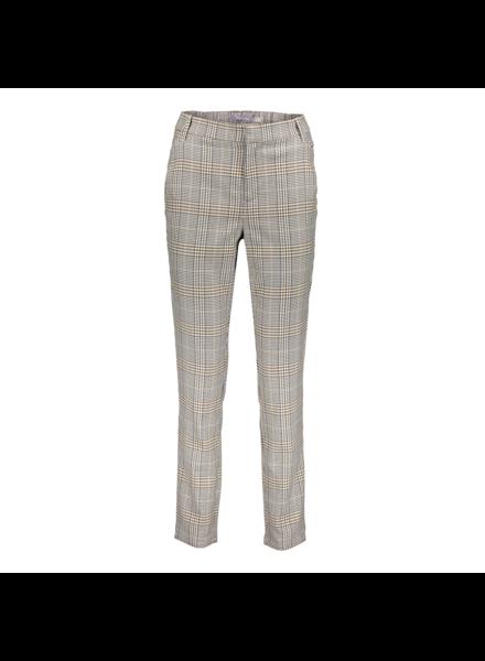 GEISHA 11593-24 Check pants high waist sand/black/tabacco combi