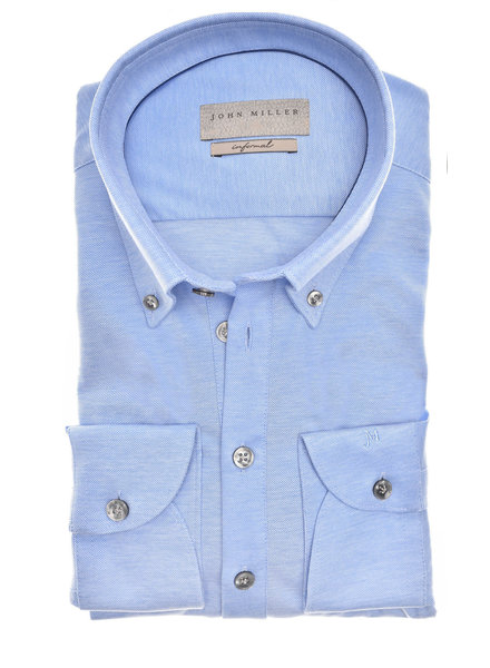 JOHN MILLER 5139511-140  Slim Fit Casual polo shirt lange mouw button down tricot
