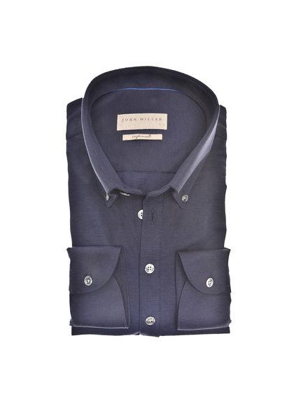 JOHN MILLER 5139511-190  Slim Fit Casual polo shirt lange mouw button down tricot