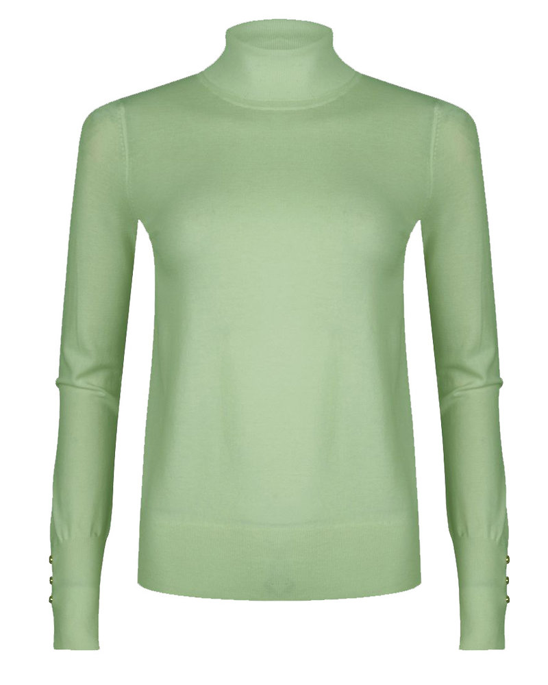ESQUALO F21.07536 Sweater turtle neck green