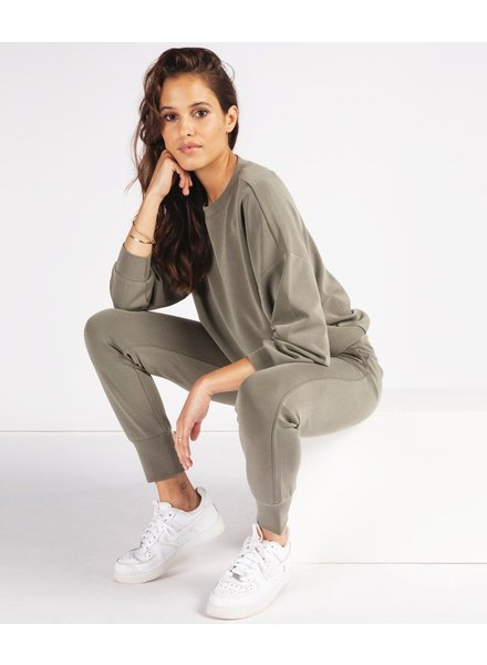 ESQUALO F21.05526 Trousers jogger modal dusky green