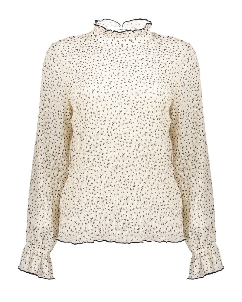 GEISHA 13601-14 Top crinckle & dots off-white/black