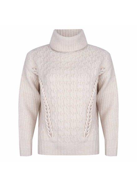ESQUALO W21.03727 Sweater braid off white
