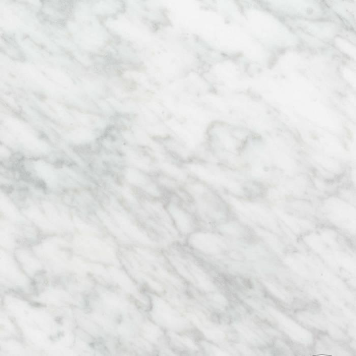Sample Bianco Carrara marmer gezoet 10x10x2 cm - materiaal proefstuk - monster gezoet wit marmer