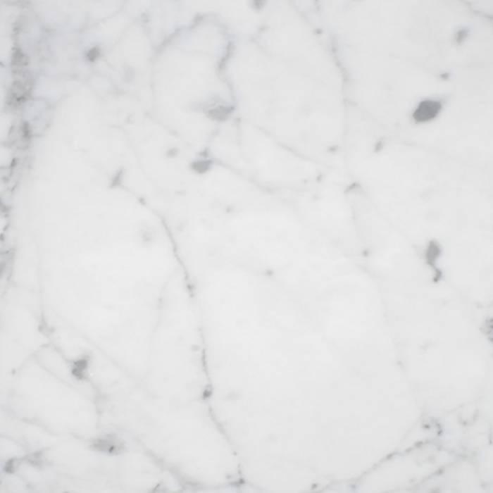 Sample Bianco Carrara marmer gepolijst 10x10x2 cm - materiaal proefstuk - monster gepolijst wit marmer