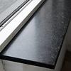 Vensterbank composiet Hardsteen look - OP MAAT - 2 cm dik - 10-70 cm breed - 10-230 cm lang -  Gepolijst marmer composiet antraciet