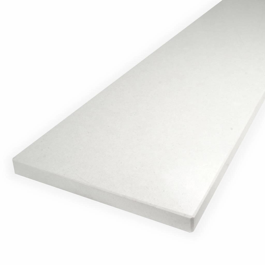 Vensterbank composiet Polare wit - OP MAAT - 2 cm dik - 10-70 cm breed - 10-230 cm lang -  Gepolijst marmer composiet wit